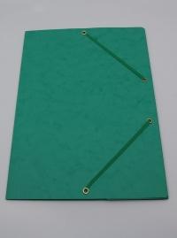 Doska s gumičkou prešpán zelená
