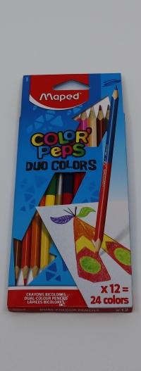 Farebné ceruzky MAPED DUO 24far/12ks