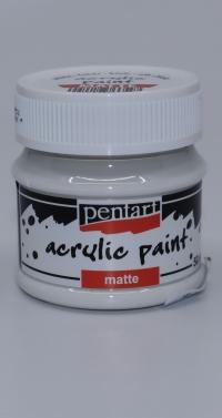 Acrylová farba - biela matná 50ml