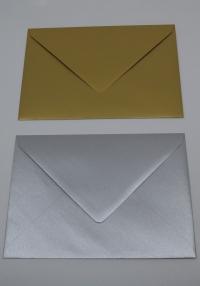 A5 metalické obálky