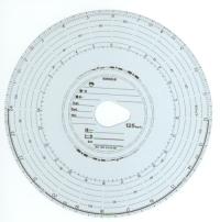 Tachografový kotúč Kienzle original 125-24 EC 4 B