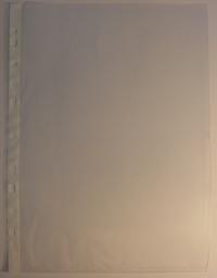 A4 euroobal, tenký priesvitný, nelesklý s dierkovaním