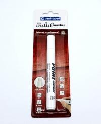 Biela fixka permanent 9100 (s plochým hrotom šírka 4 mm)