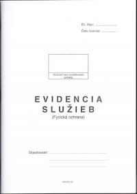 Evidencia služieb (fyzická ochrana) - kniha A4